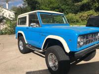 1976 Ford Bronco 302 V8 Restored Runs Great and Looks