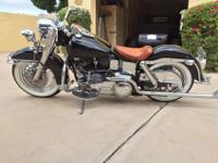 76 Harley Davidson FLH, about two years since
