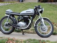 For sale is a 1976 CB360 Caf racer. This was a bare