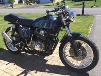 This is a very unique Honda CB 750 and gets attention