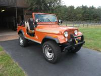 JEEP CJ-7  RENEGADE LEVI EDTION -FACTORY V-8 -