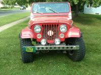 For Sale-1976 Jeep CJ5 asking $10,000 or best offer