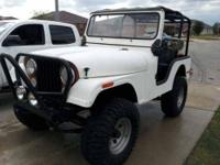Vertical Drive CJ5 With Custom Modifications Geared For