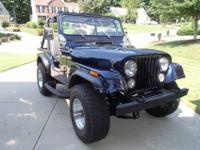 Entirely restored 1976 Jeep CJ-5, Midnight Blue