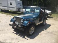 Very nice 1976 Jeep Renegade CJ5 with a 304 V-8 engine