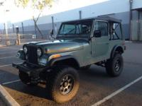 1976 Jeep CJ7 has been fully restored including the