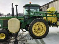1976 JOHN DEERE 4630, sprayer, Micro Trak rate