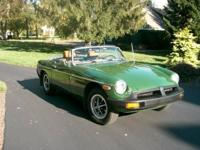 For sale - 1976 MGB convertible in excellent condition.