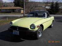 1976 MG MGB Roadster Convertible This import classic