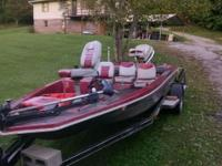 16.5 ft bass boat with 1978 85HP Power Tilt & Trim