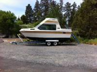 1976 24' Reinell for sale with trailer. Trailer has