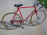 Old school 10 speed road bike. Steel frame was labeled