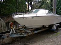 This is a genuine project boat. It has a 455cu.in olds