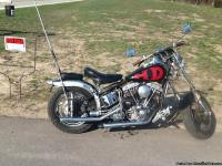 1976 shovelhead chopper -less than 100miles on rebuilt
