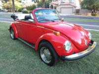 Totally restored 1976 VW Beetle Convertible. Please