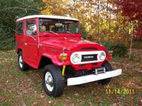 1976 Red Toyota Land Cruiser Fj40 in good condition.