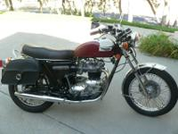 One family had, 1976 Triumph Bonneville. All stock with