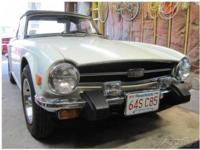 This 1976 Triumph TR 6 Roadster Convertible is a