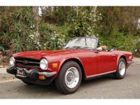 1976 TRIUMPH TR6 - OVERDRIVE, ONE OWNER, 44,800 MILES.