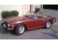 For sale is a 1976 Triumph TR6, 4 speed, 6 cyl, 54K