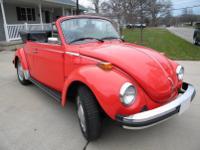Very clean Volkswagen Convertible in Ibizart Red.  -It