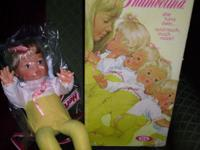 1976 WAKEUP THUMBELINA DOLL. WORKS. LIKE NEW NEVER