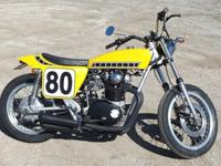1976 Yamaha XS650 Custom Street TrackerThe engine runs