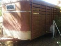 This is a 1976 24 foot bumper pull stock trailer. It is