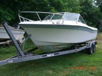 1977 16Ft Aluminum Bass Boat 40Hp + 10Hp + Trailer
