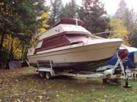 Has a newly rebuilt 350 Chevy. V-8,sonar, GPS,ship to