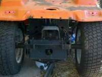 1977 ariens gt17 lawn tractor rolling chassis. Has no
