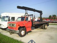 boom truck C65 Chevy single axle truck with hydraulic