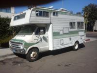 1977 Dodge Motorhome Runs & Drives sleeps 5 everything
