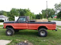 I have for sale a 1977 ford f-150 4x4. It is a mud