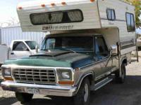 1977 Ford F250 XLT 3/4 Ton 2W/D Pick Up w Camper $2500