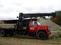 pump 28 ft National Boom winch 2 stage telescope heavy