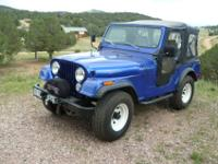 1977 Jeep CJ-5 with the 304 ci V8. This jeep has a new