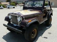 Rare 1977 Jeep CJ5 Golden Eagle with powerful V8 AMC