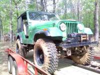 1977 Jeep CJ5. 258 6cyl with 4 speed manual. Lifted