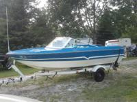 1977 15' LARSON V BOW WITH 70 HP JOHNSON MOTOR, HAS