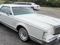 1977 LINCOLN MARK V, V8, Auto, White w/green & brown