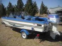 Description 77 magnum 15, 85 Hp evinrude, power trim,