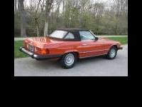This is a 1977 Mercedes 450sl. Car was manufactured in