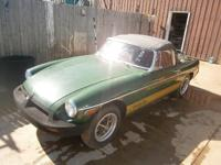 This MGB is a convertible with a good title.