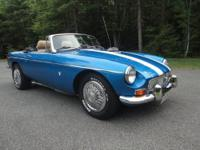 1977 MGB Convertible with a professionally installed