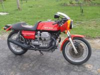 1977 Moto Guzzi 850 Lemans. 6800 miles! All original