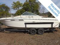 The 1977 Sea Ray SRV260 Sundancer is a great example of