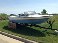 1977 StarCraft 15' fiberglass boat with 85hp Yamaha and
