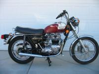 1977 TRIUMPH BONNEVILLE T140 THAT I PURCHASED FROM THE