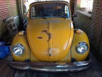 1977 Volkswagen Beetle convertible was running when it